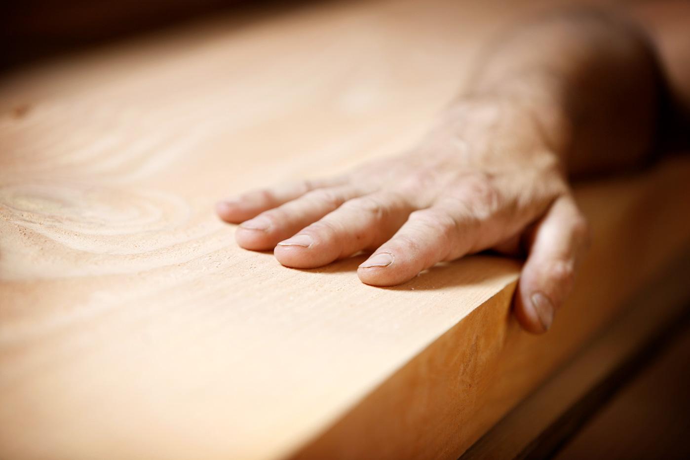 Oberflächenbehandlung heimisches Holz